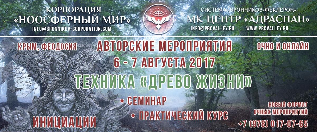 Авторские мероприятия В.М. Бронникова   в Феодосии в августе 2017 года